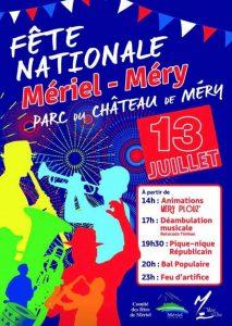 FÊTE NATIONALE POUR LES MERIELLOIS ET LES MERYSIENS