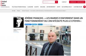 [Médias] Global Géo News interviewe Jérôme FRANÇOIS