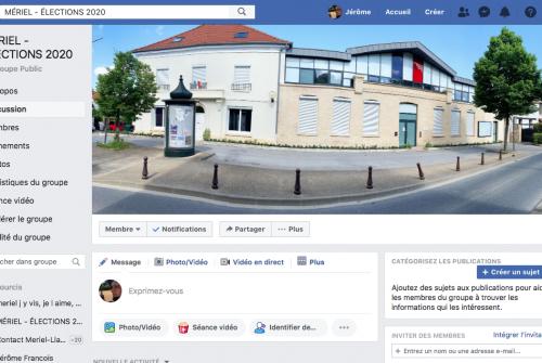 [Facebook] Une page ouverte à tous et dédiée aux élections municipales à Mériel